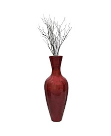 "Bamboo Floor Vase, 37.5"" Tall"