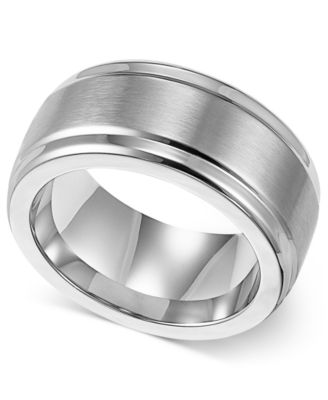Triton Mens Stainless Steel Ring 9mm Wedding Band Rings