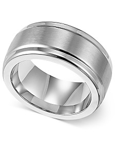 Triton Mens Stainless Steel Ring 9mm Wedding Band
