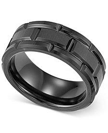 Triton Men's Ring, Black Tungsten 8mm Matrix Band