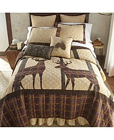 Brown Antler Woods Cotton Quilt Collection