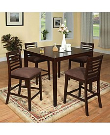 Wooden Counter Height Table Set