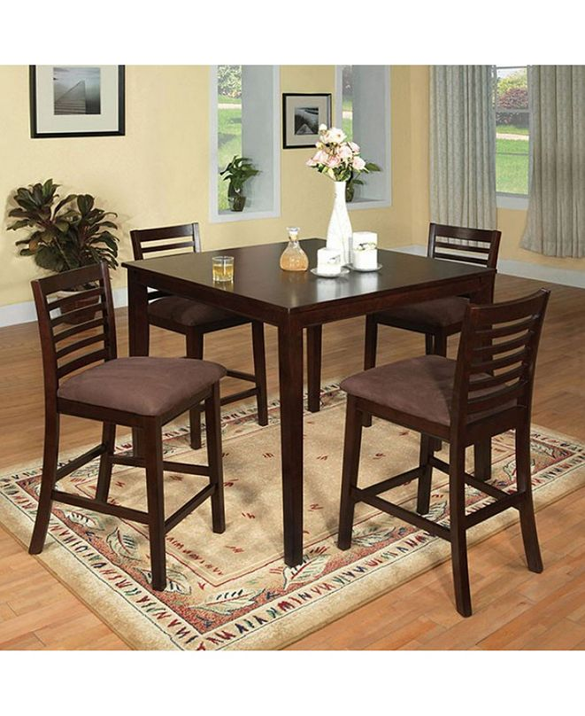 Benzara Wooden Counter Height Table Set