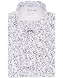 Men's Extra Slim-Fit Performance Stretch Temperature Regulating Abstract-Print Dress Shirt