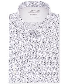Calvin Klein Men's Extra Slim-Fit Performance Stretch Temperature Regulating Abstract-Print Dress Shirt