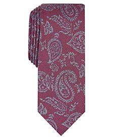 Men's Glenn Pine Paisley Skinny Tie, Created for Macy's
