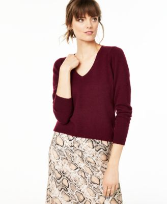 V-Neck Cashmere Sweater, Regular & Petite Sizes, Created for Macy's