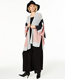 Colorblock Cashmere Wrap, Created For Macy's