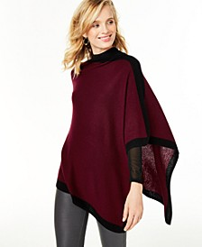 Cashmere Border Poncho, Created for Macy's