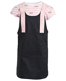Little Girls Striped Bow Dress
