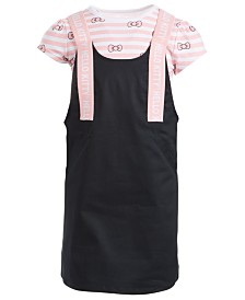Hello Kitty Little Girls Striped Bow Dress