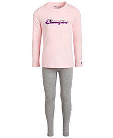 Champion Little Girls 2-Pc. Logo Top & Leggings Set