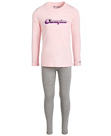 Champion Little Girls 2-Pc. Logo Top & Leggings Set