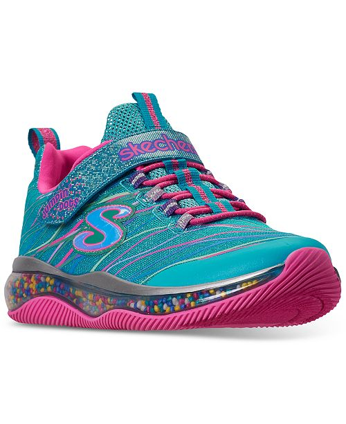 Skechers Little Girls Skech-Air Jumping Dots Stay-Put Closure Casual Training Sneakers from Finish Line