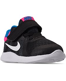 Nike Toddler Girls Revolution 4 Stay-Put Closure Athletic Sneakers from Finish Line