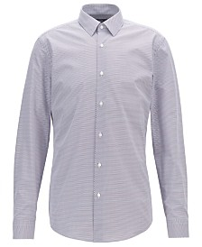 BOSS Men's Isko Slim-Fit Two-Colored Geometric-Print Cotton Shirt