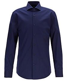 BOSS Men's Jason Slim-Fit Micro-Dot Cotton Shirt