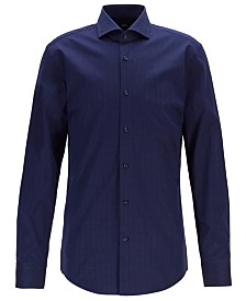 BOSS Men's Jason Slim-Fit Micro-Dot Cotton Shirt