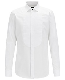 BOSS Men's T-Caleb Slim-Fit Dobby Cotton Evening Shirt