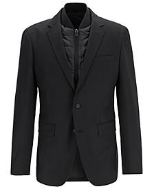 BOSS Men's Hadik Slim-Fit Virgin Wool Blazer With Detachable Vest