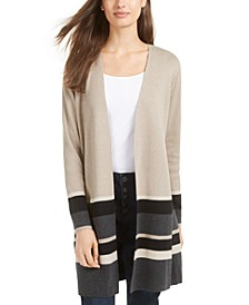 Juniors' Colorblock Duster Cardigan Sweater