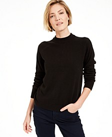 Luxsoft Zip-Back Mock-Neck Sweater, Created for Macy's
