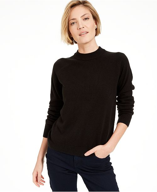 Karen Scott Petite Mock-Neck Sweater, Created For Macy's