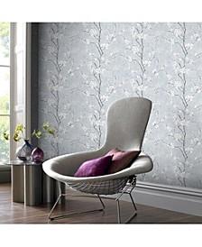 Graham Brown Pale Blue Sakura Wallpaper