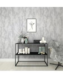 Graham Brown Industrial Texture Silver Wallpaper