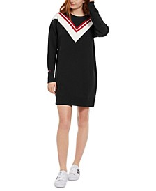 Colorblocked Varsity Fleece Dress