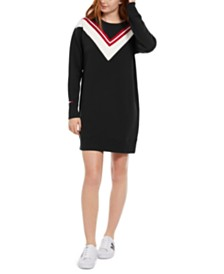 Tommy Hilfiger Sport Colorblocked Varsity Fleece Dress