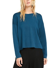 Eileen Fisher Crewneck Merino Wool Sweater, Regular & Petite