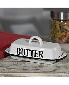 VIP Home International Metal Enamelware Butter Dish
