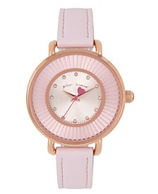 Rose Gold Textured Dial Watch 38mm