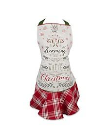 Christmas Tree Ruffle Apron