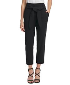 DKNY Tie-Waist Ankle Pants