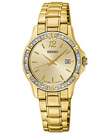 Women's Gold-Tone Stainless Steel Bracelet Watch 28mm