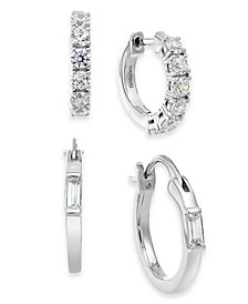 Gold-Tone 2-Pc. Set Cubic Zirconia Huggie Hoop Earrings, Created For Macy's