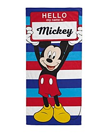 Mickey Mouse My Name Is Beach Towel