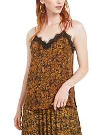 Snake-Print Lace-Trim Top, Created for Macy's