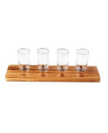 Beer Tasting Flight Set Wood 5pc