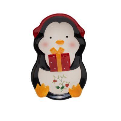 Winterberry Penguin Tidbit Tray