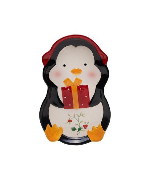 Pfaltzgraff Winterberry Penguin Tidbit Tray