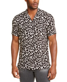 I.N.C. Men's Manny Camouflage Short Sleeve Shirt, Created for Macy's