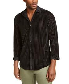 I.N.C. Men's Burn Out Stripe Shirt, Created for Macy's