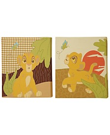 Disney Lion King 2-Piece Canvas Wall Art Set