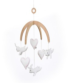 Cotton Tail Hearts & Bunnies Ceiling Mobile