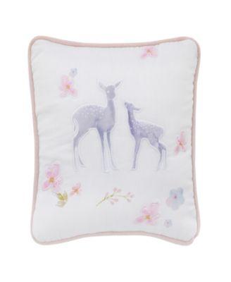 Watercolor Deer Decorative Pillow