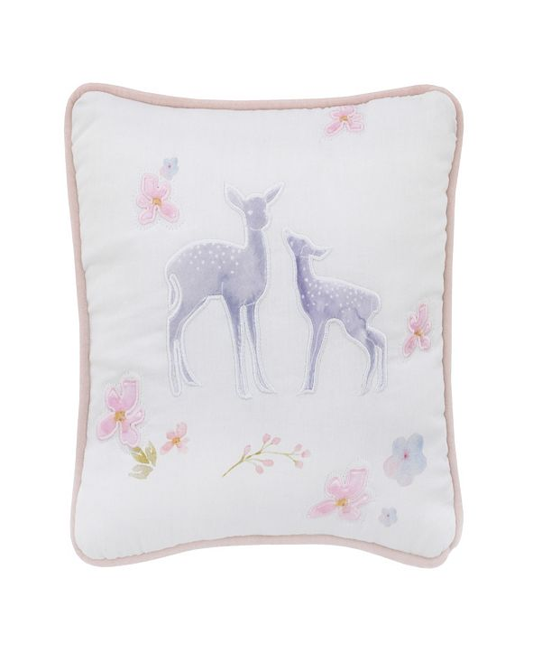 NoJo Watercolor Deer Decorative Pillow