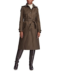 Belted Hooded Single Breasted Trench Coat
